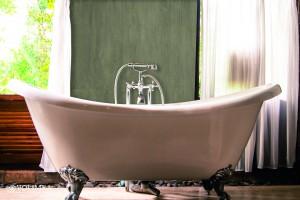 Badezimmer mit Brettschalung