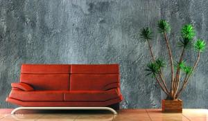 Sofa mit Schiefer Silbergrau