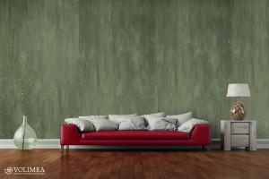 Sofa rot mit Brettschalung